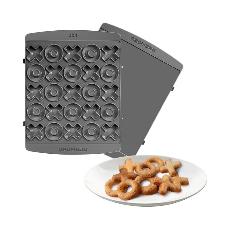 """Панель """"Крестики-нолики"""" для мультипекаря REDMOND (форма для выпечки печенья и пряников) RAMB-144"""