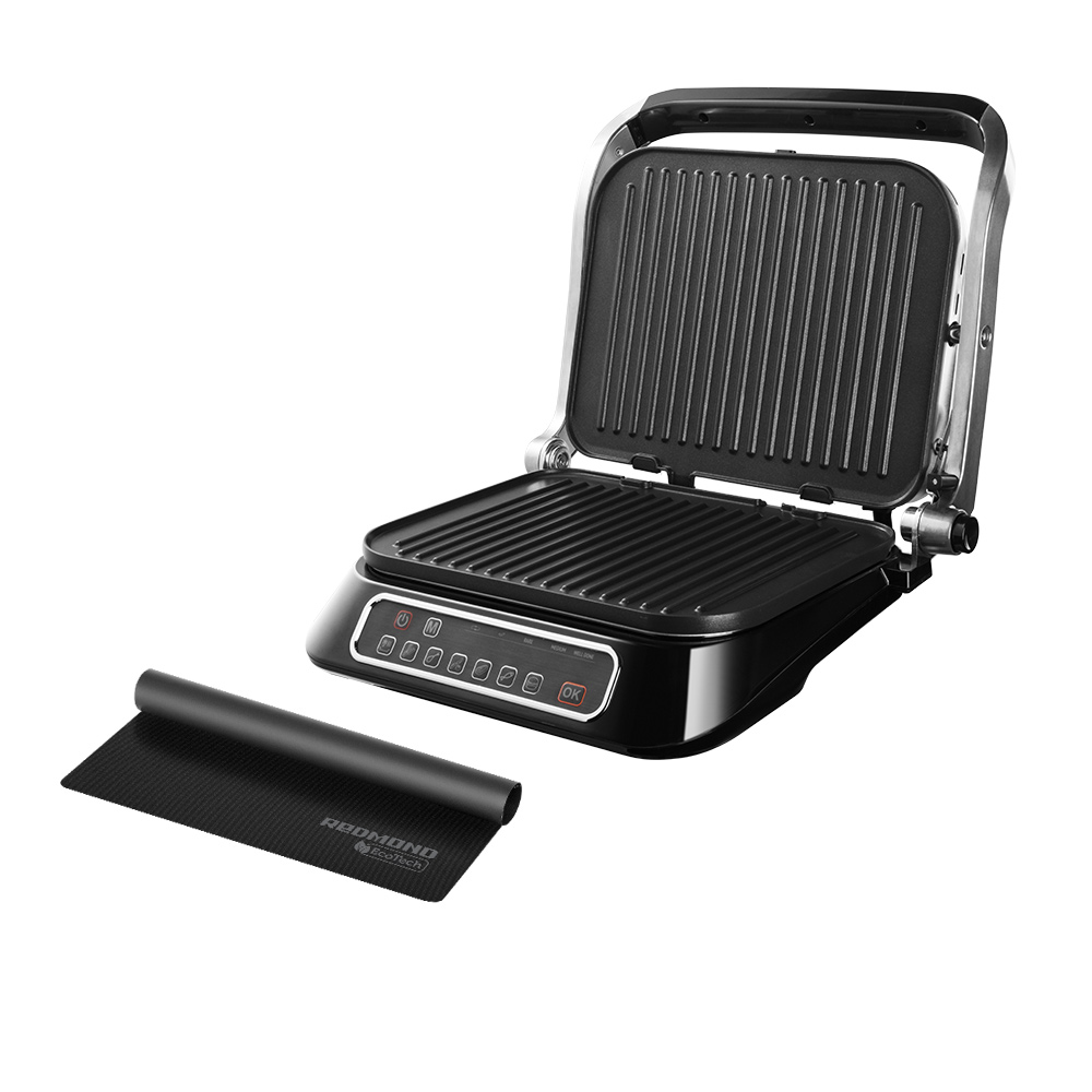 Комплект Гриль SteakMaster REDMOND RGM-M805 + Антипригарное Мультипокрытие REDMOND Ecoglass MC1